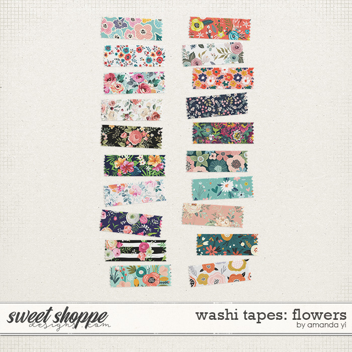 Washi Tapes: Flowers by Amanda Yi