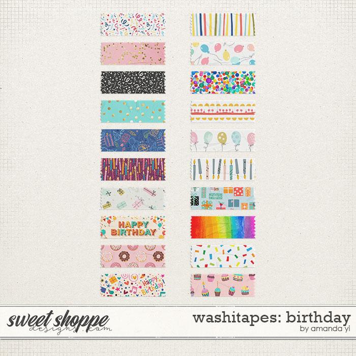 Washi Tapes: Birthday by Amanda Yi