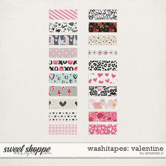 Washi Tapes: Valentines by Amanda Yi