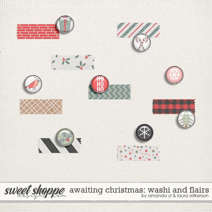Awaiting Christmas Washi and Flair by Amanda Yi and Laura Wilkerson