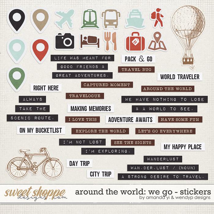 Around the world: We Go - Stickers by Amanda Yi & WendyP Designs