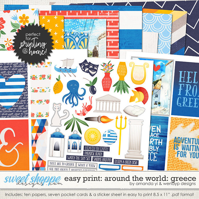 Easy Print Around the world: Greece by Amanda Yi & WendyP Designs