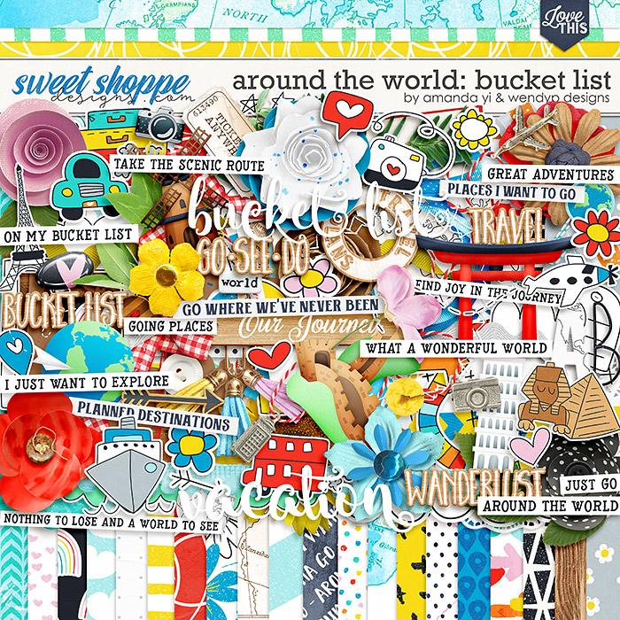 Around the world: Bucket list by Amanda Yi & WendyP Designs
