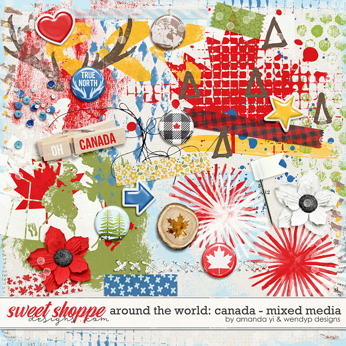 Around the world: Canada - Mixed Media by Amanda Yi & WendyP Designs