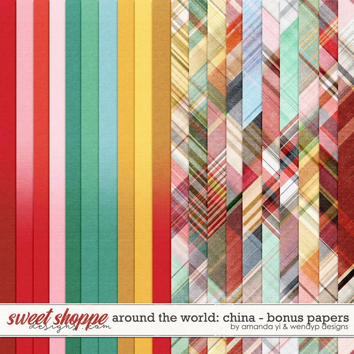 Around the world: China - Bonus Papers by Amanda Yi & WendyP Designs