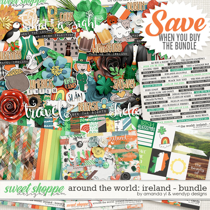 Around the world: Ireland bundle by Amanda Yi & WendyP Designs