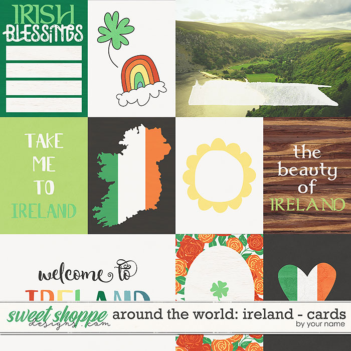 Around the world: Ireland cards by Amanda Yi & WendyP Designs