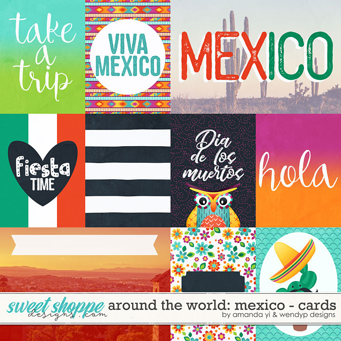 Around the world: Mexico - Cards by Amanda Yi & WendyP Designs