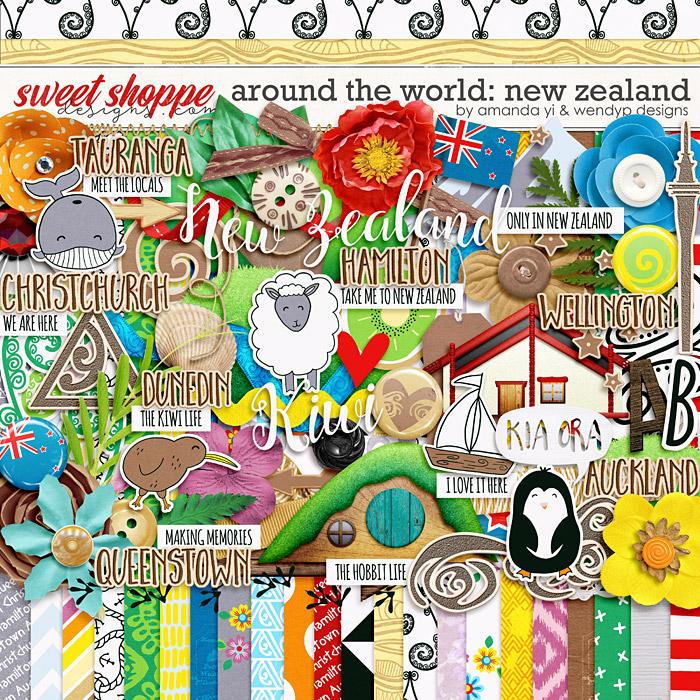 Around the world: New Zealand by Amanda Yi & WendyP Designs