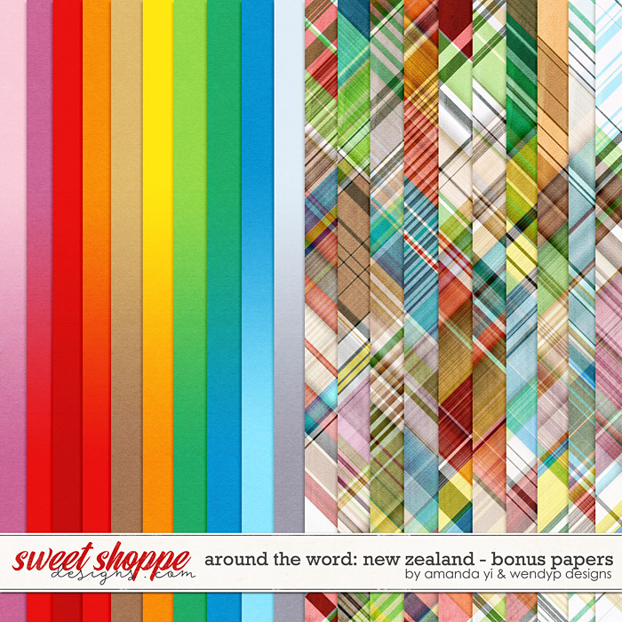 Around the world: New Zealand: Bonus Papers by Amanda Yi & WendyP Designs