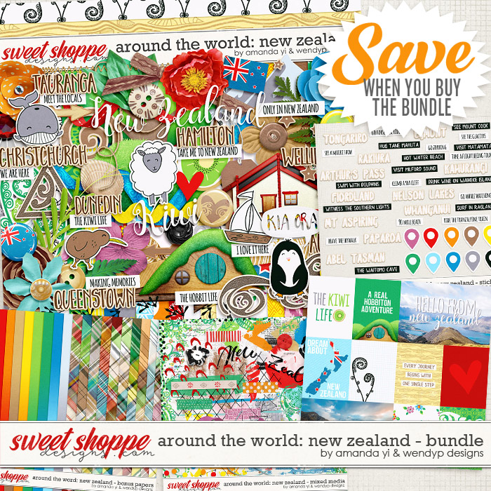 Around the world: New Zealand - Bundle by Amanda Yi & WendyP Designs