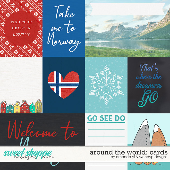Around the world: Norway - Cards by Amanda Yi & WendyP Designs