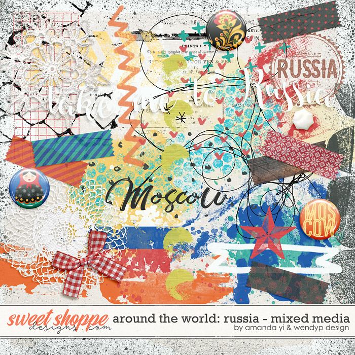 Around the world: Russia - Mixed Media by Amanda Yi & WendyP Designs