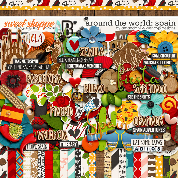 Around the world: Spain by Amanda Yi & WendyP Designs