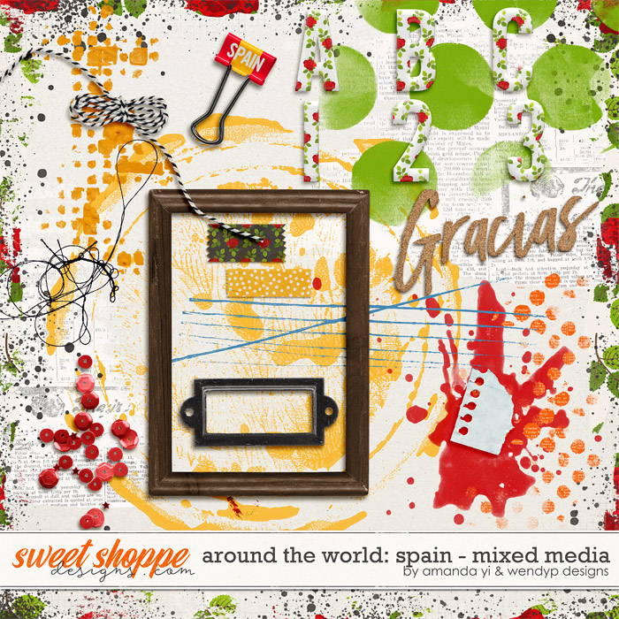 Around the world: Spain - Mixed Media by Amanda Yi & WendyP Designs