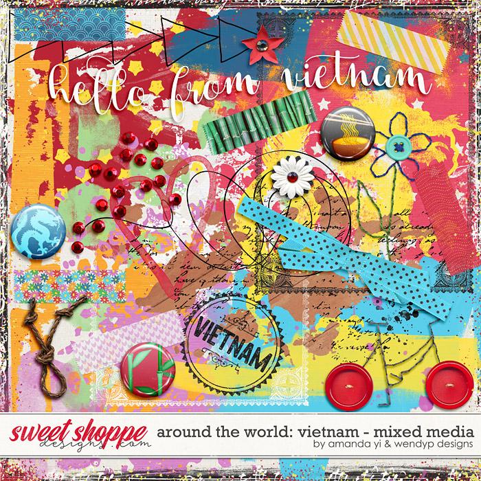 Around the world: Vietnam - Mixed Media by Amanda Yi & WendyP Designs