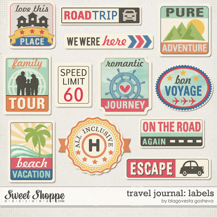 Travel Journal: Labels by Blagovesta Gosheva