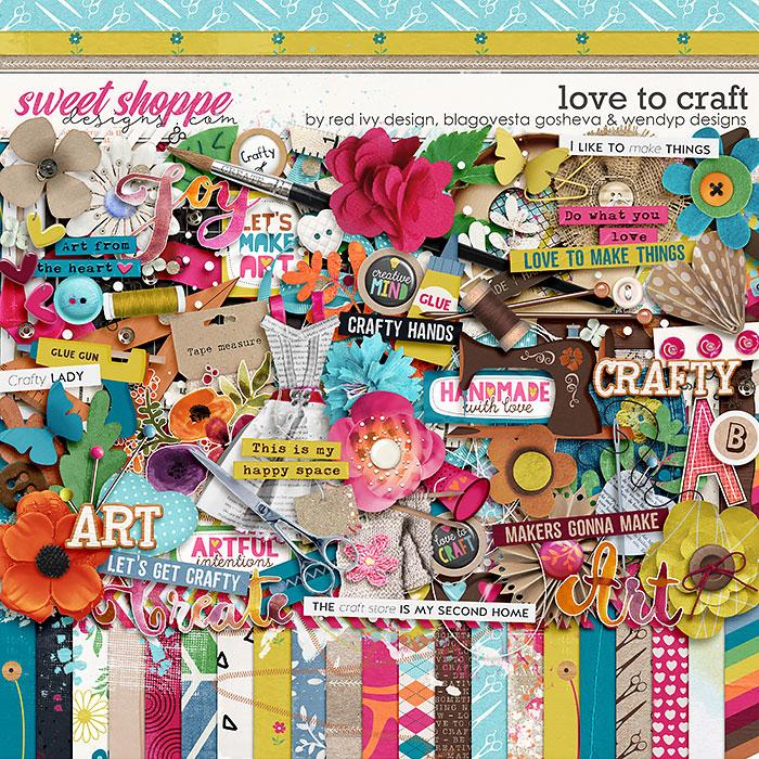 Love to Craft by Blagovesta Gosheva, Red Ivy Design & WendyP Designs