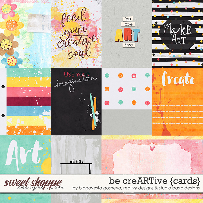 Be CreARTive Cards by Blagovesta Gosheva, Red Ivy and Studio Basic