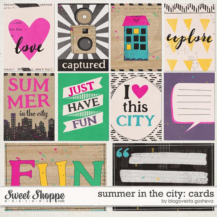 Summer in the city: cards by Blagovesta Gosheva