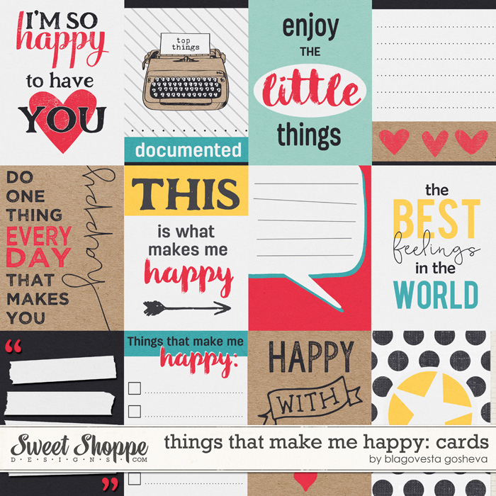Things that make me happy: cards by Blagovesta Gosheva