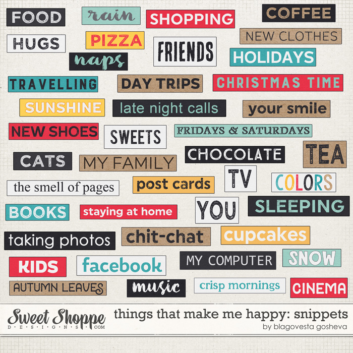 Things that make me happy: snippets by Blagovesta Gosheva