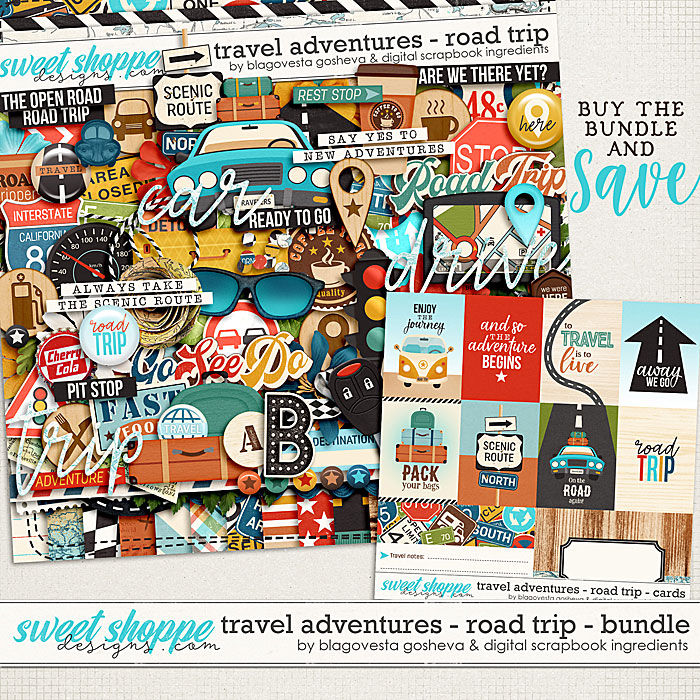 Travel Adventures - Road Trip {bundle} by Blagovesta Gosheva & Digital Scrapbook Ingredients