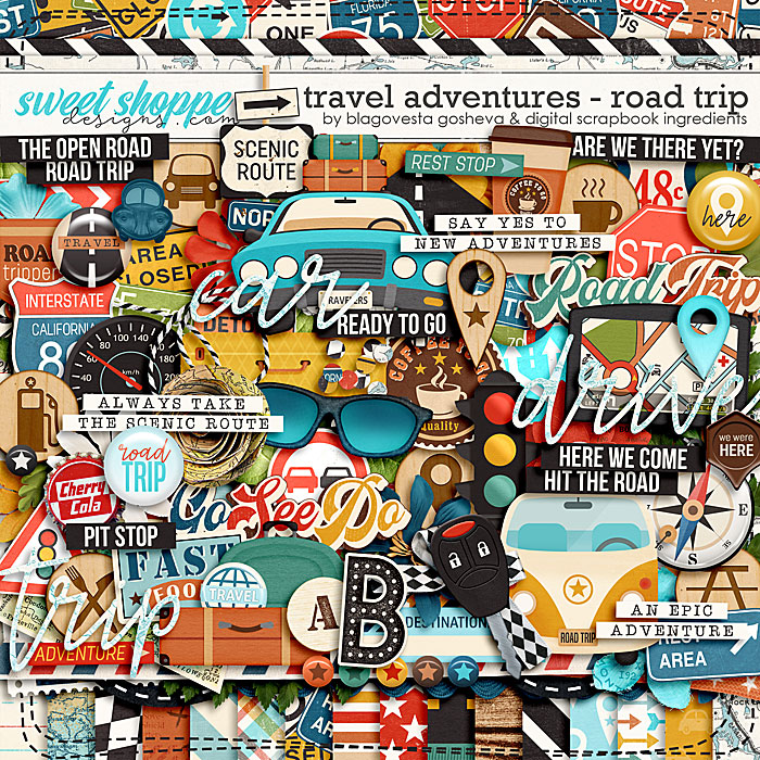 Travel Adventures - Road Trip by Blagovesta Gosheva & Digital Scrapbook Ingredients