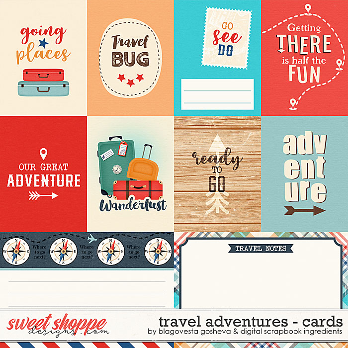 Travel Adventures {cards} by Blagovesta Gosheva & Digital Scrapbook Ingredients