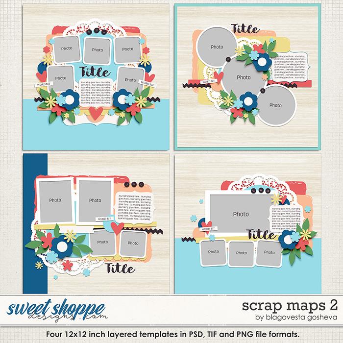 Scrap Maps 2 {layered templates} by Blagovesta Gosheva