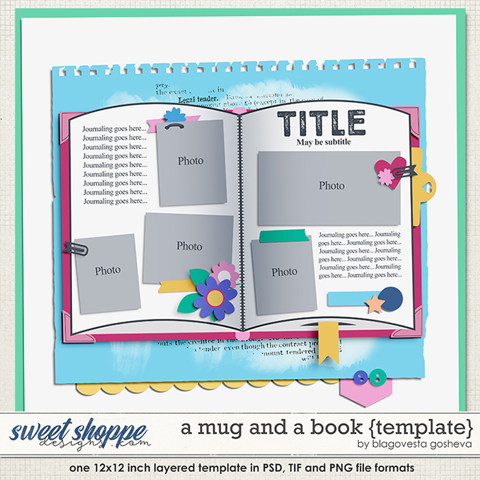 A mug and a book {layered template} by Blagovesta Gosheva