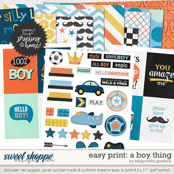 Easy Print: A boy thing by Blagovesta Gosheva