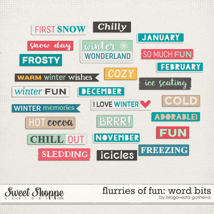 Flurries of fun {word bits}