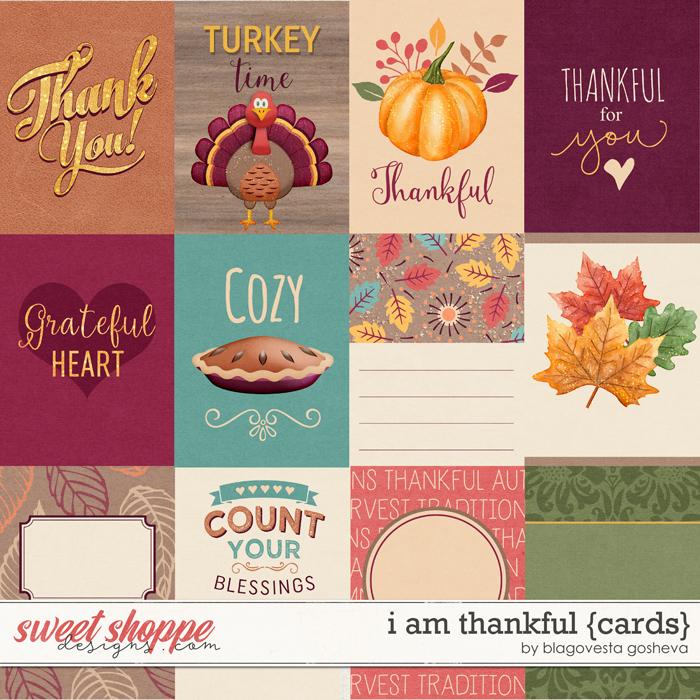 I Am Thankful {cards} by Blagovesta Gosheva