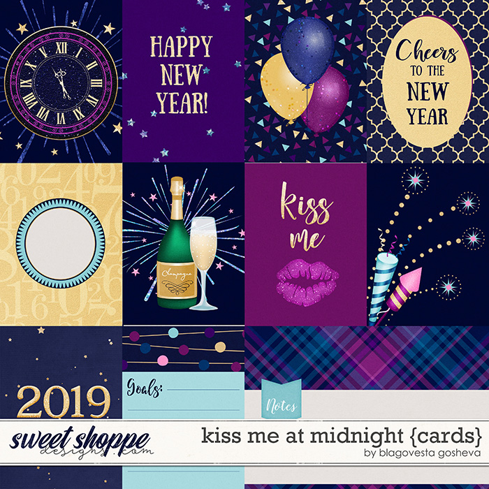 Kiss me at midnight {cards} by Blagovesta Gosheva