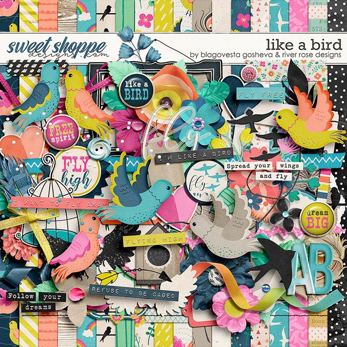 Like a Bird: Kit by Blagovesta Gosheva & River Rose Designs