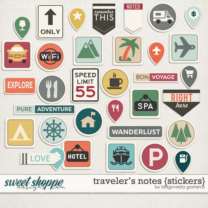 Traveler's Notes {stickers} by Blagovesta Gosheva