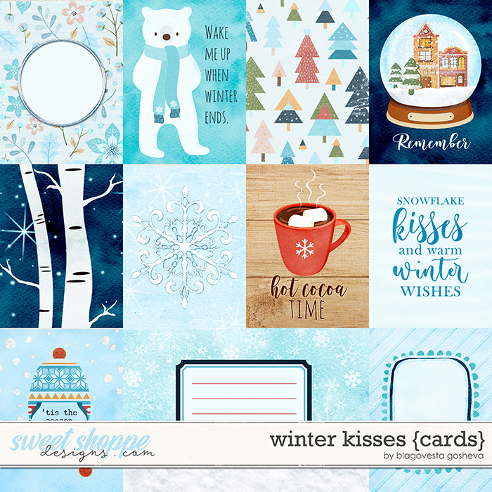 Winter Kisses {cards} by Blagovesta Gosheva