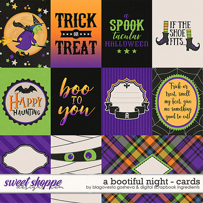 A Bootiful Night {cards} by Blagovesta Gosheva & Digital Scrapbook Ingredients