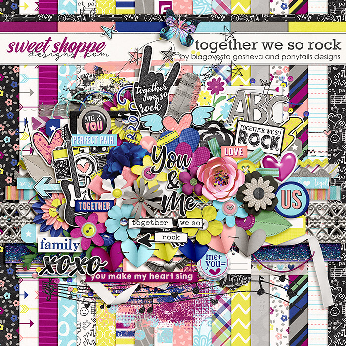 Together we so rock by Blagovesta Gosheva & Ponytails Designs