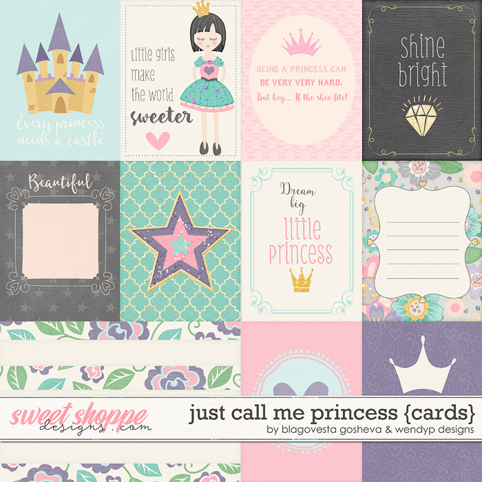 Just call me princess - cards by Blagovesta Gosheva & Wendyp Designs