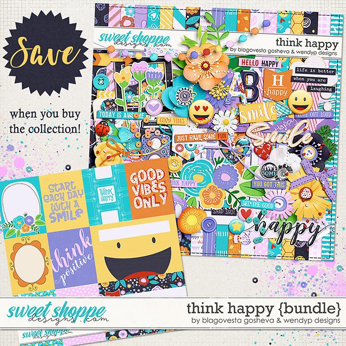 Think Happy -  Bundle by Blagovesta Gosheva & WendyP Designs