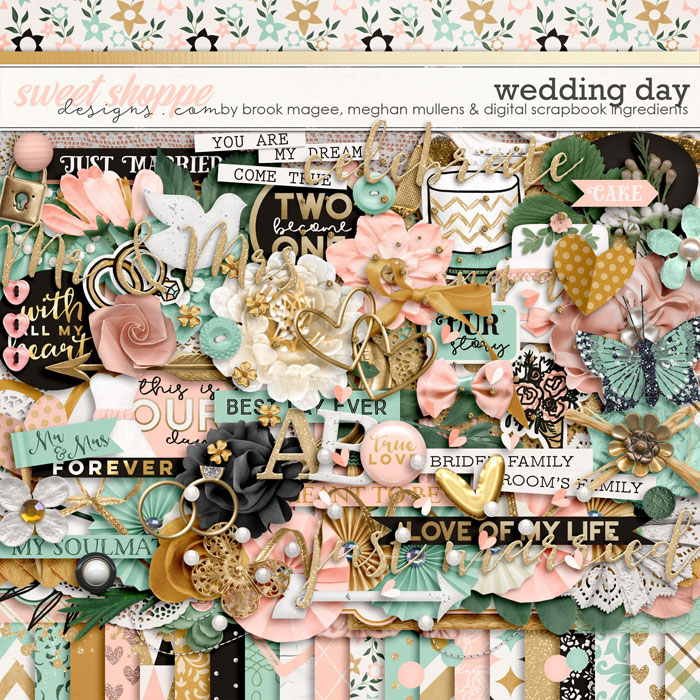Wedding Day-Kit by Brook Magee, Digital Scrapbook Ingredients, and Meghan Mullens