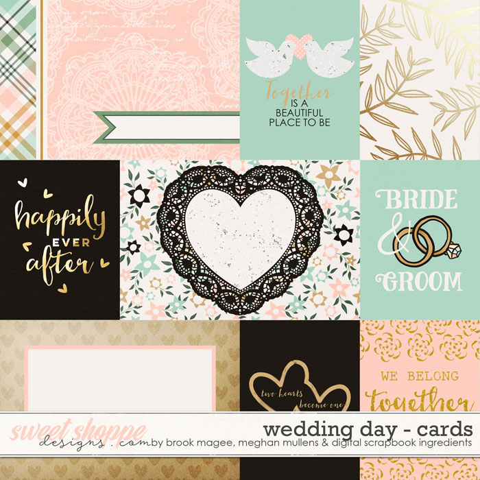 Wedding Day-Journcal Cards by Brook Magee, Digital Scrapbook Ingredients, and Meghan Mullens