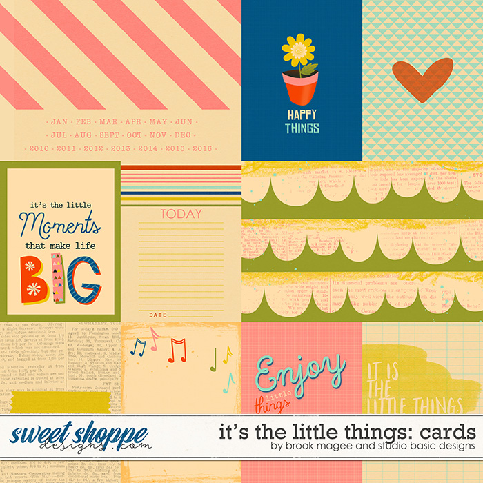 It's The Little Things Cards by Brook Magee and Studio Basic