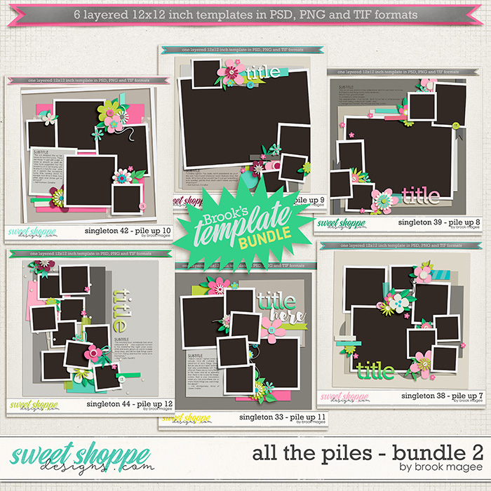 Brook's Templates - All the Piles - Bundle 2 by Brook Magee