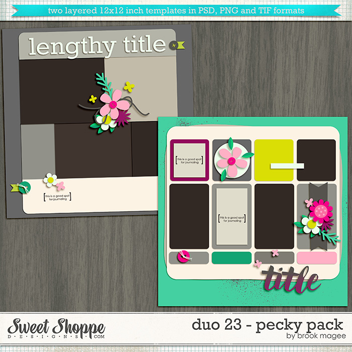 Brook's Templates - Duo 23 - Pecky Pack by Brook Magee