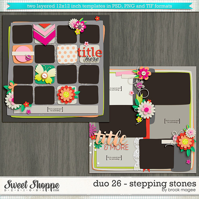 Brook's Templates - Duo 26 - Stepping Stones by Brook Magee