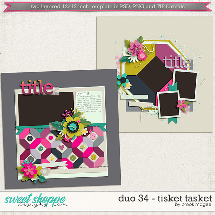Brook's Templates - Duo 34 - Tisket Tasket by Brook Magee