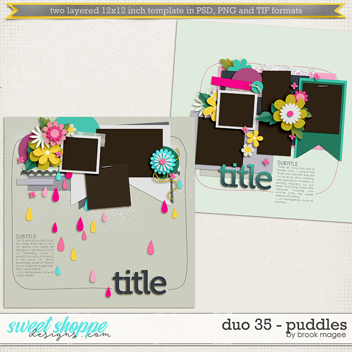 Brook's Templates - Duo 35 - Puddles by Brook Magee